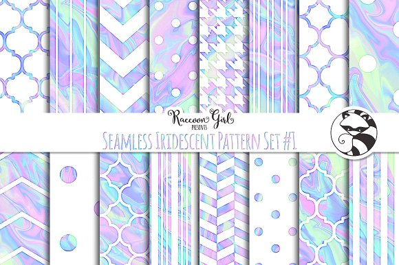 Seamless Iridescent Patterns #1