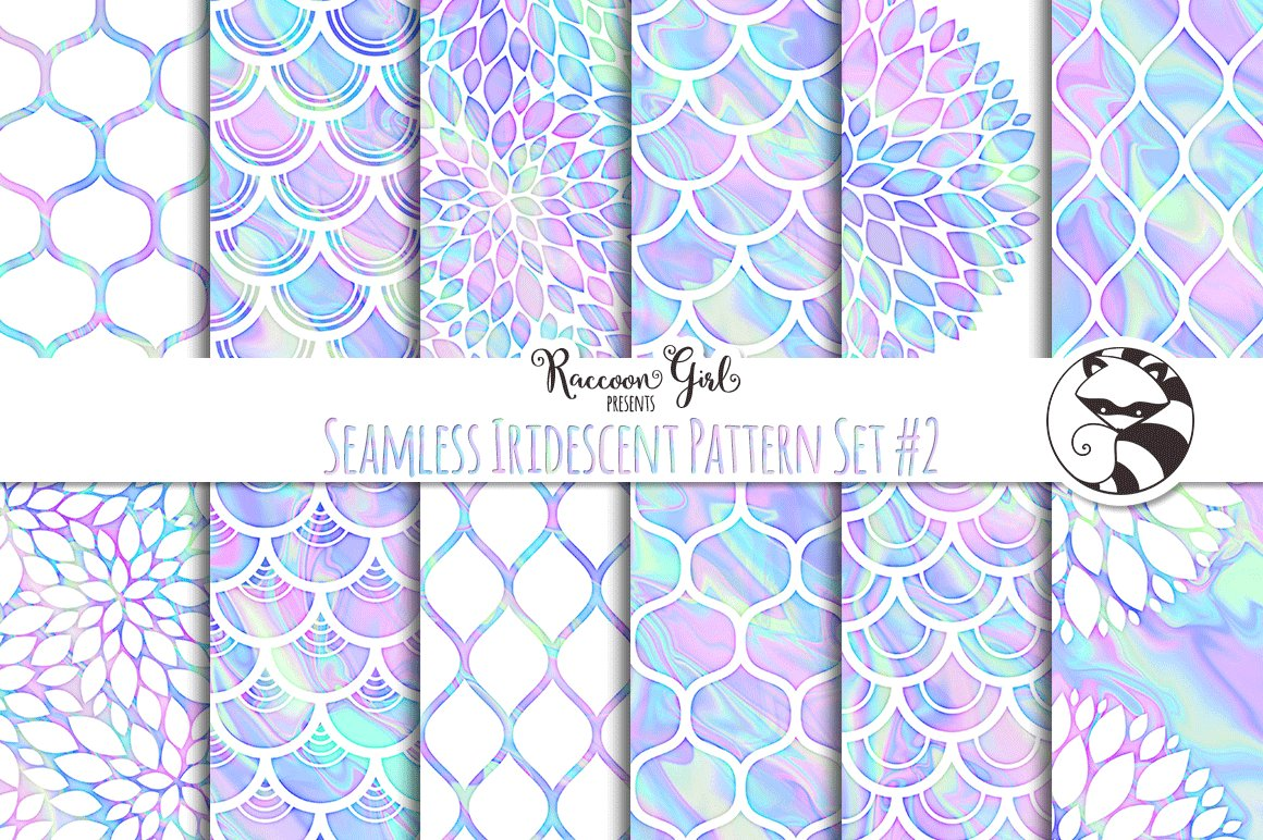 Seamless Iridescent Patterns 2 Graphic Patterns