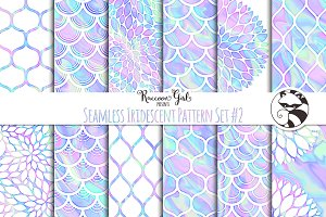 Seamless Iridescent Patterns #2