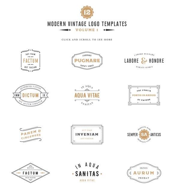 Vintage Label Logo Templates