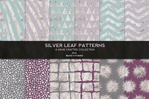 Silver Leaf Geometric Patterns No. 2