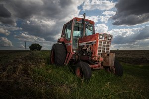 Tractor In Farmland