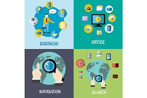 Navigation, search and business flat