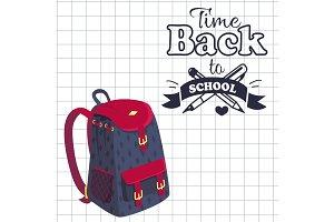 Time Back to School Poster Rucksack on Leaflet
