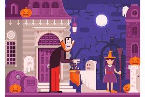 Trick or Treat Halloween Concept
