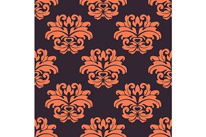 Purple and peach seamless pattern