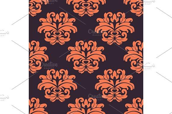 Purple and peach seamless pattern