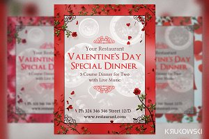 Valentine's Day Dinner for Two Flyer