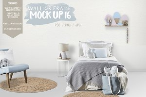 Kids Room Wall/Frame Mock Up 16