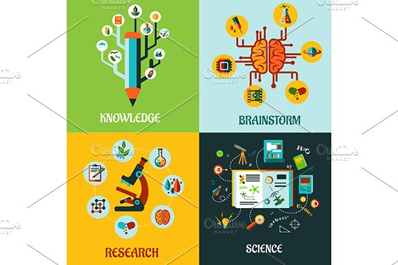 Research, science and brainstorm fla in Graphics