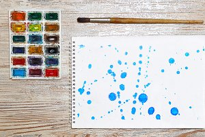10 JPG Abstract blue ink splash