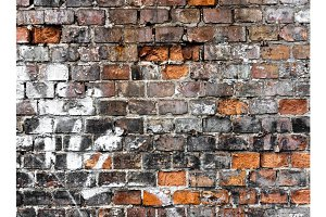 Brick wall texture with a lot of cracks