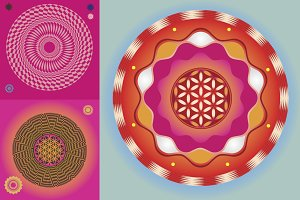Magic mandalas 12 posters