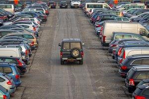 Parking lot outdoors