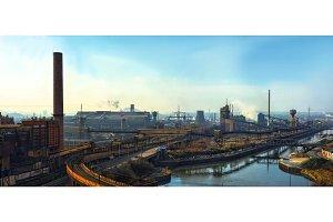 Industrial scene wirh large factory