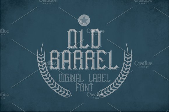 Old Barrel Vintage Label Typeface