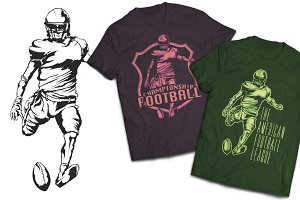 American Football T-shirts Labels