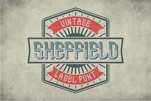 Sheffield Vintage Label Typeface