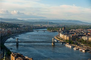 Panorama of budapest from Mount Gellert