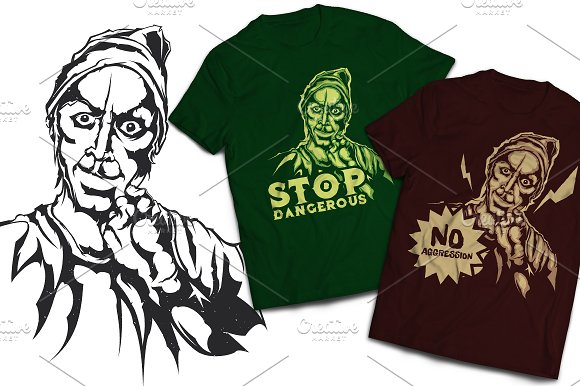 Agression T-shirts And Poster Labels