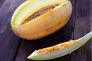 Ripe yellow melon