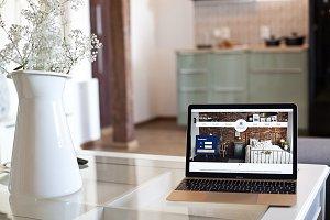 MacBook Air in the apartment