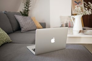 MacBook Pro in the apartment