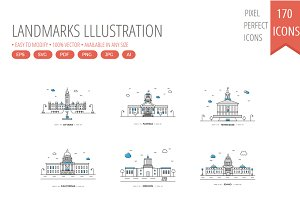 170 Color Landmarks lllustration