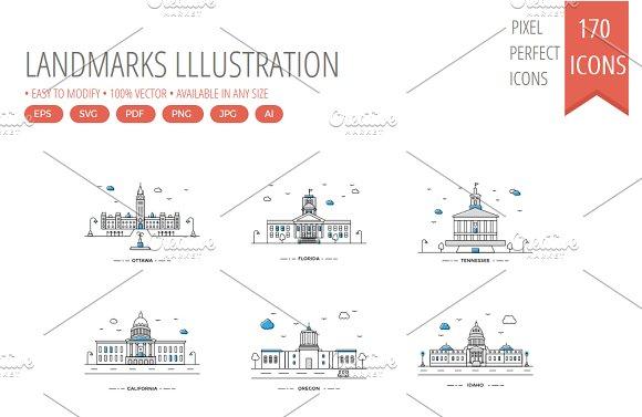 170 Color Landmarks Lllustration
