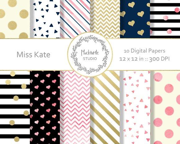 Modern Chic Digital Paper