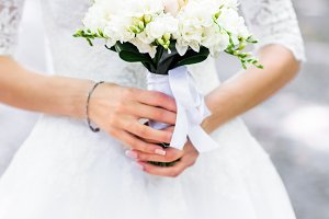 Bouquet in hands