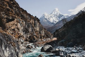 Ama Dablam view from the southwest