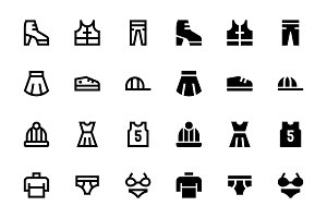66 Clothes and Shoes icons