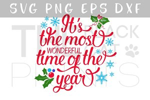 The most wonderful time SVG DXF EPS