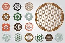 Floral esoteric designs