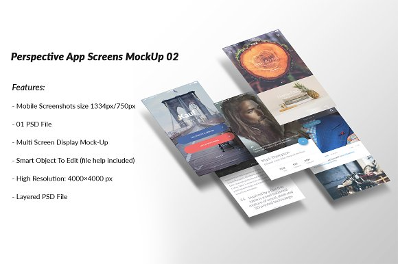 Download Perspective App Screens MockUp 02