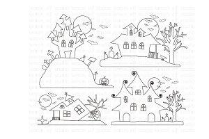Spooky House Paper (LES.DP48)