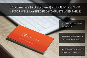 Red Essential Business Card