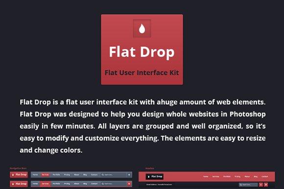 Flat Drop User Interface PSD Kit