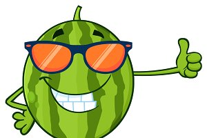 Smiling Green Watermelon