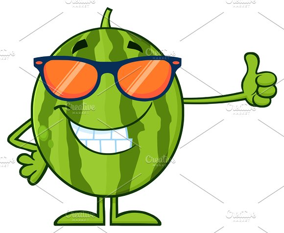 Smiling Green Watermelon