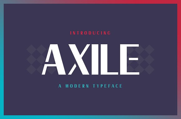 Axile Typeface