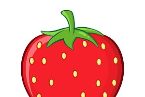 Strawberry Fruit Simple Design