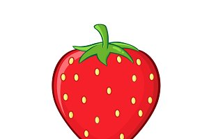 Cartoon Strawberry Fruit