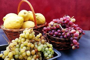 Fruits in baskets