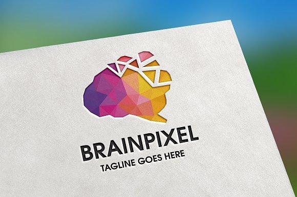 Brain Pixel Logo