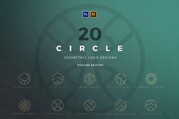 20 Circle Geometric Logos Outline