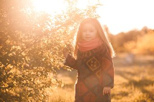 Autumn portrait of girl