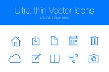Ultra-thin Vector Icons
