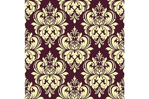 Purple and yellow seamless pattern